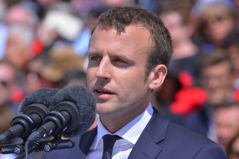 Emmanuel Macron à Orléans le 8 mai 2016