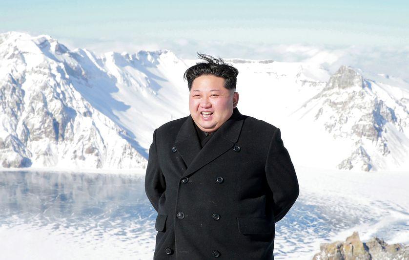 Kim Jong-un en visite au Mont Paektu en décembre 2017 (photo de l'Agence Officielle de l'Information Nord-Coréenne-KCNA)