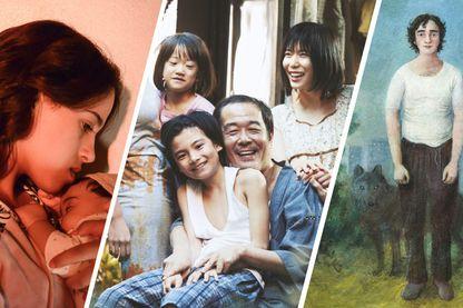 """Images promotionnelle et affiches des films suivants : """"Sofia"""" de Meryem Benm'Barek, """"Une affaire de famille"""" de Kore-Eda et """"Heureux comme Lazzaro"""" d'Alice Rohrwacher"""
