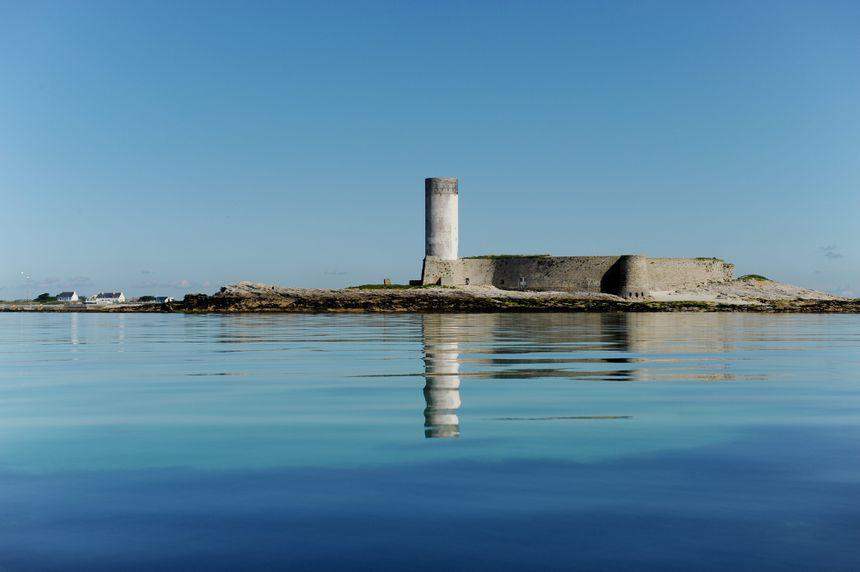 Le Fort Cigogne de Fouesnant, dans l'archipel des Glénan, en Bretagne.