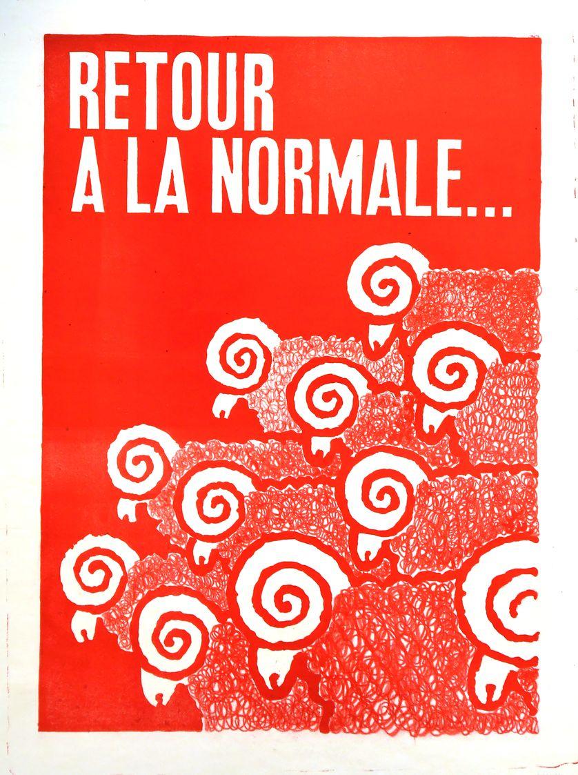 Une des nombreuses affiches de Mai 68