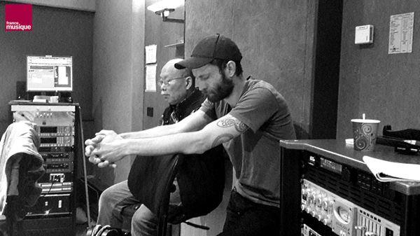 Giovanni Di Domenico et Akira Sakata en réécoute au studio 107