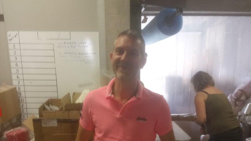 Emmanuel Periat, directeur des tissages des Roziers