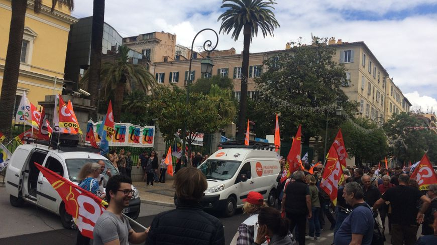 Mobilisation des fonctionnaires le 22 mai 2018 dans les rues d'Ajaccio