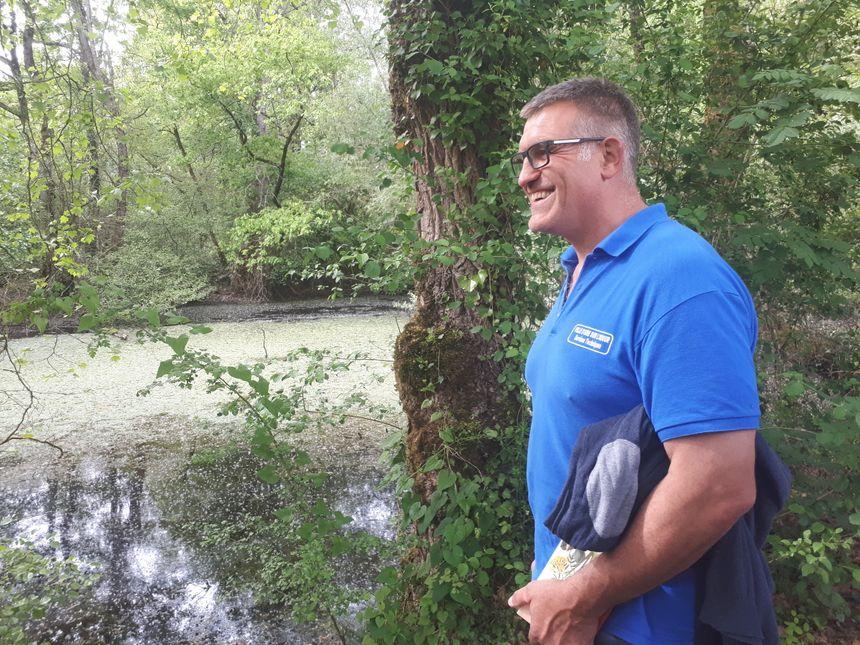 Pierre Casanave, responsable espaces verts à Aire sur Adour