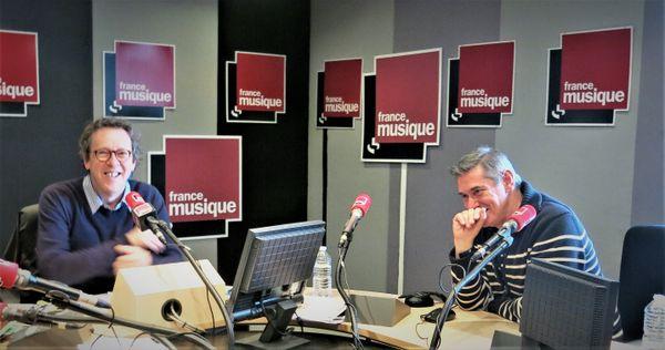 France Musique, studio 141, sur le vif !...  Benoît Duteurtre & Philippe Padovani ( de g. à d.)