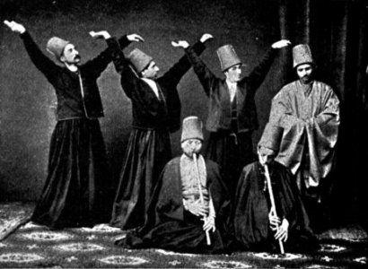 Mevlevi jouant du ney (autour de 1887)