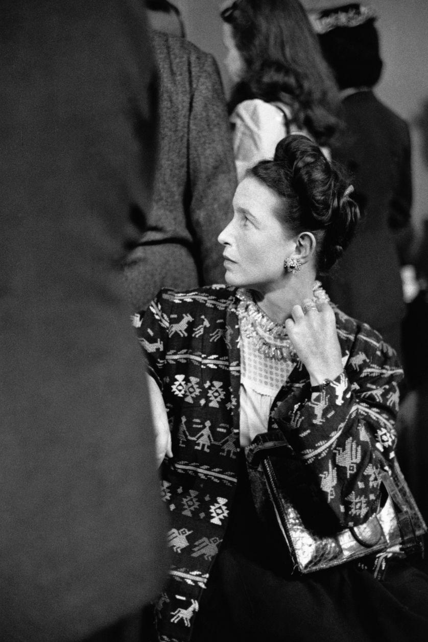 Simone de Beauvoir en 1947