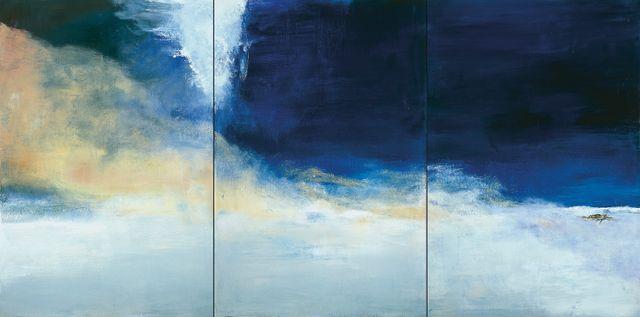 Zao Wou-Ki, Le vent pousse la mer, 2004 Collection particulière