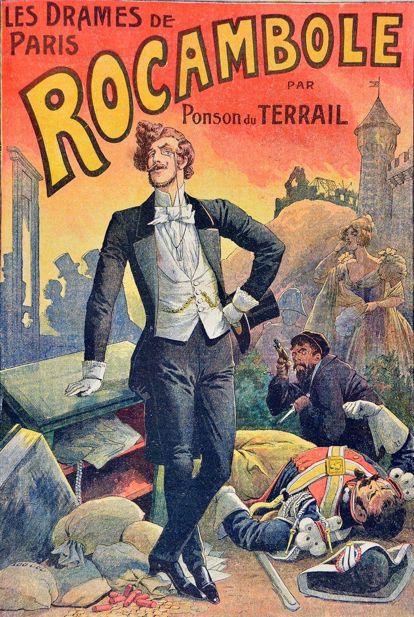 illustration des Drames de Paris, Rocambole - aux éditions Jules Rouff - 1884 - créé par Pierre Ponson du Terrail (1829-1871)