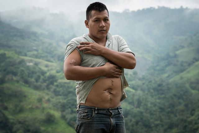 José Luis Galindo, victime de l'explosion d'une mine