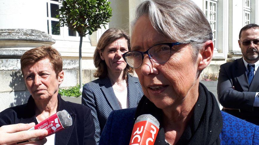 Elisabeth Borne à la sortie de la préfecture de Nantes ce vendredi 4 mai 2018.