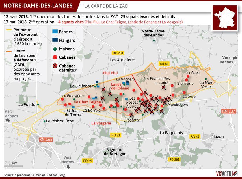 ZAD de Notre-Dame-des-Landes : 4 squats supplémentaires évacués