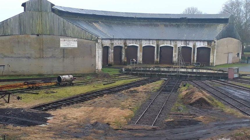 La rotonde ferroviaire de Montabon (Sarthe) a été construite en 1890.