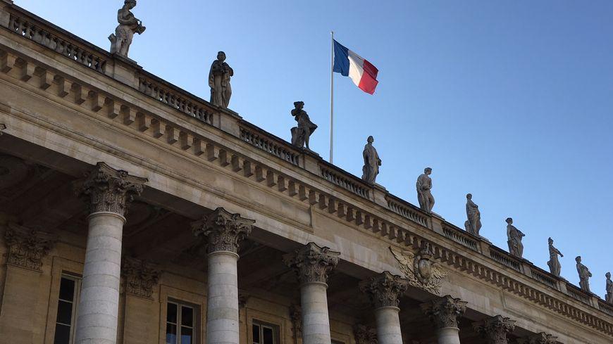 Vue du Grand Théatre qui héberge l'Opéra National de Bordeaux Aquitaine