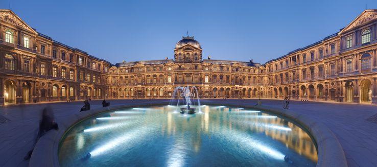 Cour carrée du Louvre.