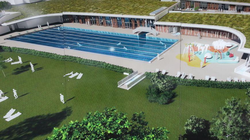Un plan de la future piscine du Carrousel à Dijon qui ouvrira ses portes à la fin 2019