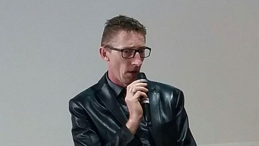 Patrick Dils lors du colloque sur la justice pénale des mineurs, à Bordeaux, ce jeudi