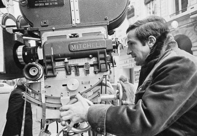 François Truffaut sur le tournage du film La sirène du Mississipi en 1969