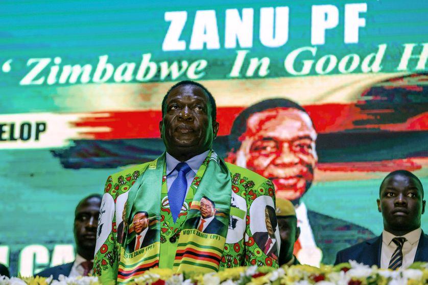 Le président zimbabwéen, Emmerson Mnangagwa, est candidat à sa propre succession