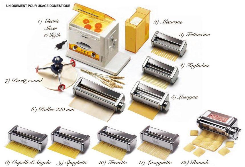 Plusieurs utilisations sont possibles avec une machine à pâte