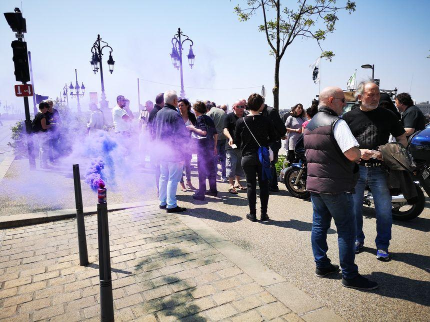 Manifestation haute en couleur.