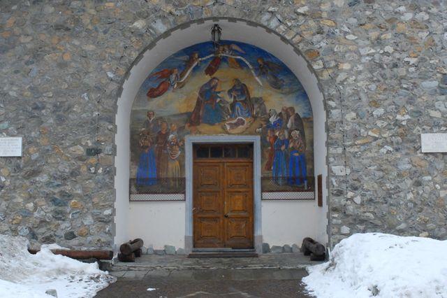 Eglise occupée à Clavière