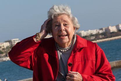 Christa Ludwig, artiste lyrique allemande, de tessiture mezzo-soprano à la Croisette de Cannes le 26 janvier 2013