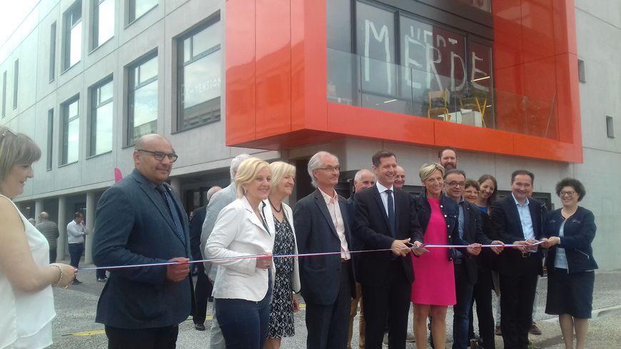 Inauguration de l'extension de l'Ecole Supérieure d'Art et Design à Valence (Drôme)