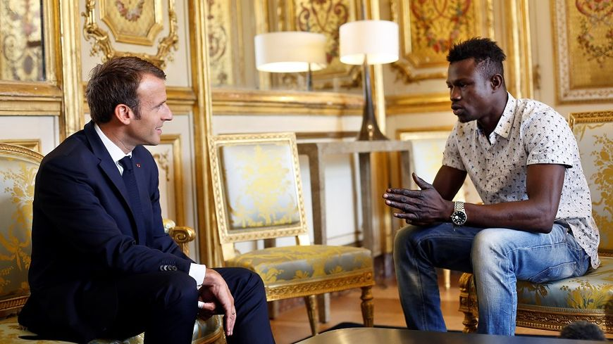 Mamoudou Gassama a été reçu ce lundi par Emmanuel Macron.