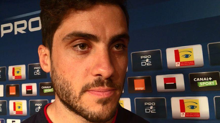 L'ailier grenoblois Lucas Dupont s'est arrêté en zone mixte avant la finale contre Perpignan