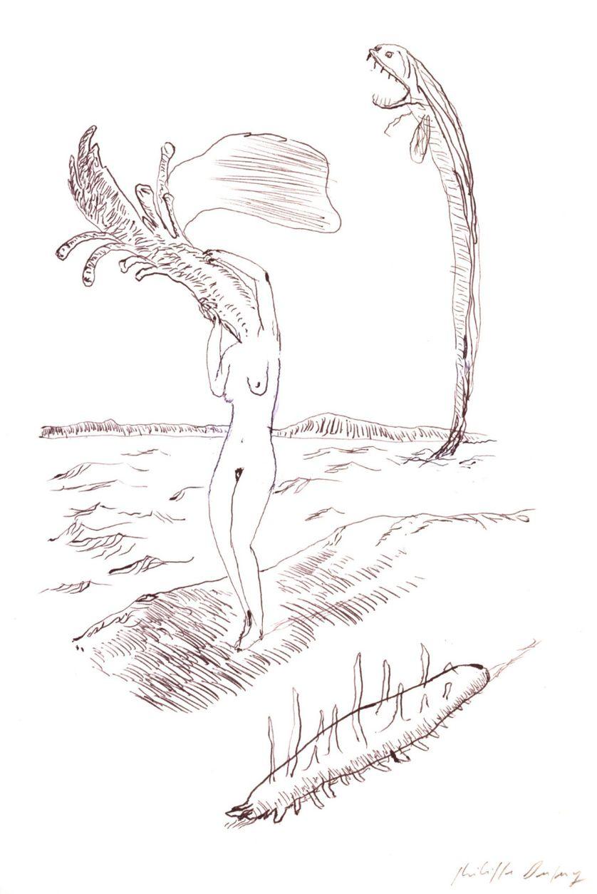 """Philippe Dupuy - série """"left"""", 2015/2016 - encre et typex sur papier – 22,5 x 16 cm"""