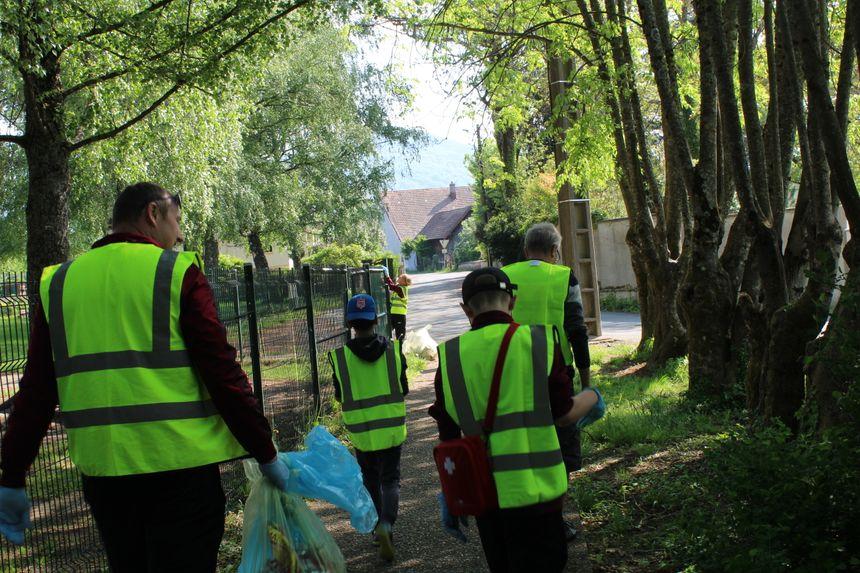 Plusieurs patrouilles ont ramassé les déchets dans les différents secteurs de Giromagny