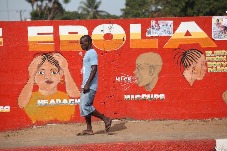 Une campagne lancée par l'OMS au Liberia pour prévenir l'épidémie d'Ebola, en mai 2017.