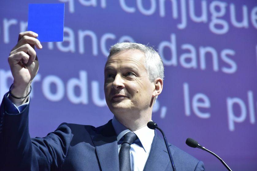 Bruno Le Maire aux 5ème Assises de l'épargne et de la fiscalité en mai 2018