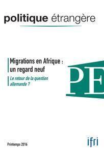 Politique étrangère printemps 2016. L'Afrique face à ses déplacés internes