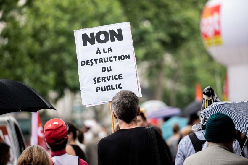 Paris, France le 22 mai 2018. Manifestation des fonctionnaires pour la défense du service public.