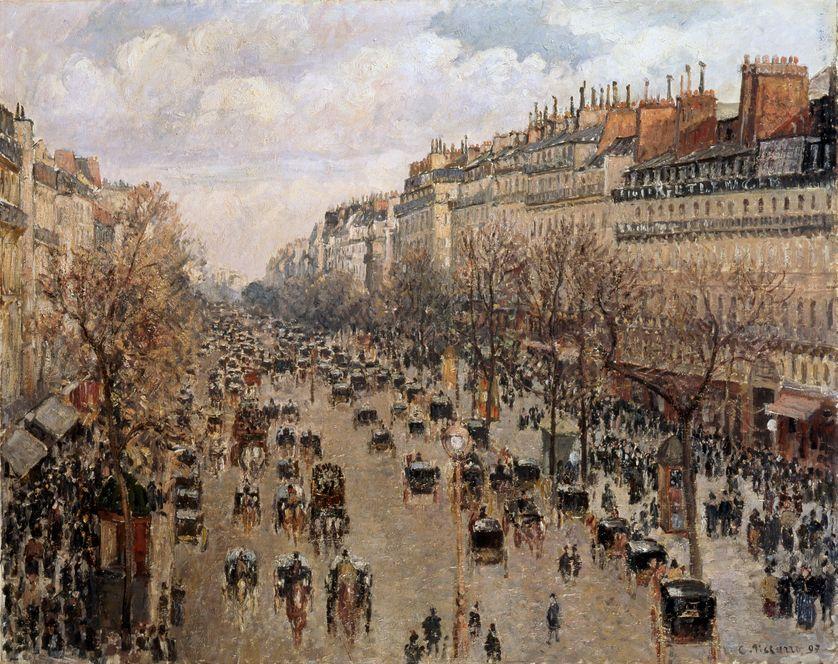 Boulevard Montmartre à Paris, 1897.