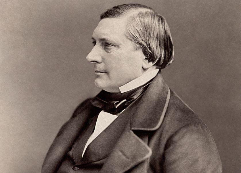 Photographie d'Eugène Labiche par Félix Nadar (recadrée), vers 1870.