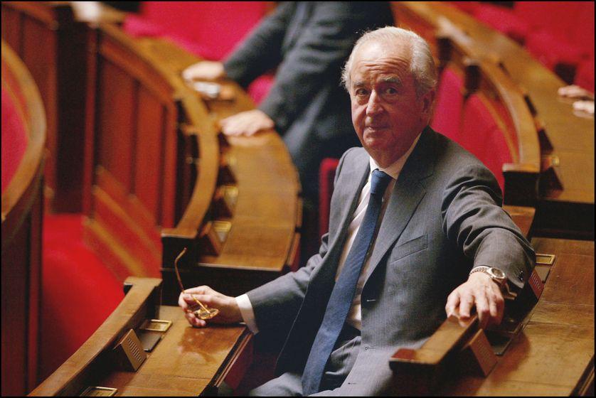 Edouard Balladur à l'Assemblée Nationale en 2002 à Paris