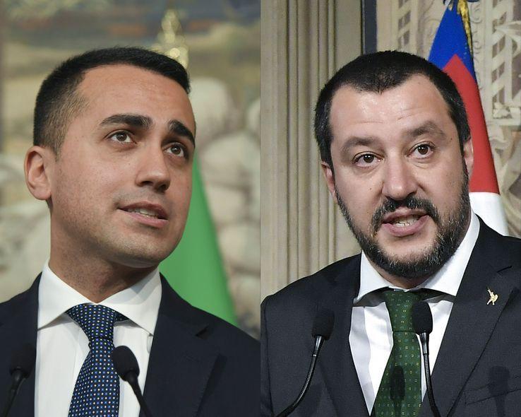 Luigi Di Maio (M5S, Movimento Cinque Stelle) & Matteo Salvini (la Legua)