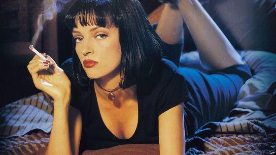 """Uma Thurman dans """"Pulp Fiction"""" de Quentin Tarantino (1994)."""