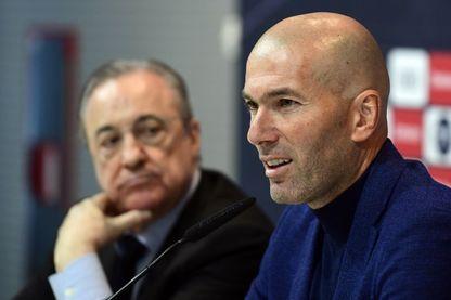 Zinedine Zidane lors de la conférence de presse surprise jeudi 31 mai 2018