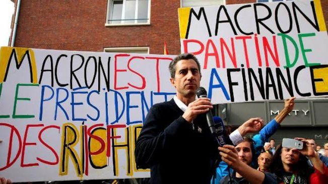 """Le député François Ruffin, l'organisateur de la """"Fête à Macron"""""""