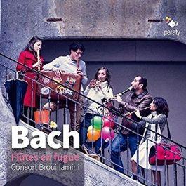 "Consort Brouillamini, Bach ""Flûtes en fugue"" - label Paraty, distribution PIAS / Harmonia Mundi."