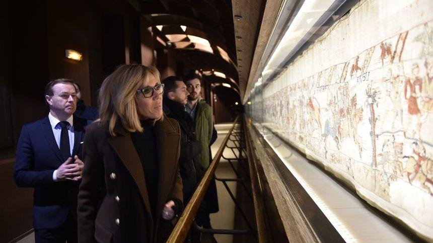 Brigitte Macron est venue visiter la Tapisserie de Bayeux  le 20 février dernier