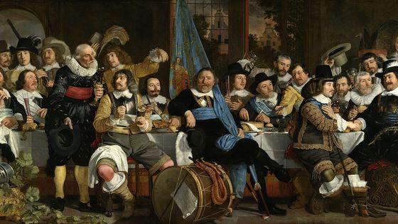 Banquet de la garde civique d'Amsterdam à l'occasion de la paix de Münster