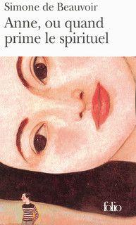 Anne ou quand prime le spirituel, Simone de Beauvoir