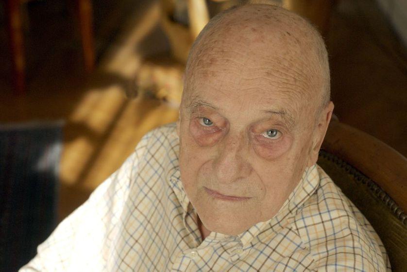 Gérard Genette à Paris en novembre 2008
