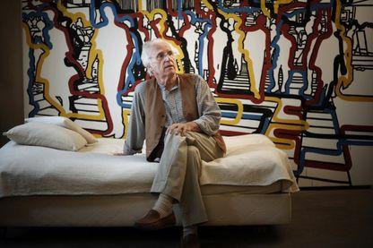 Le peintre Gérard Fromanger dans son atelier à Paris en 2008.